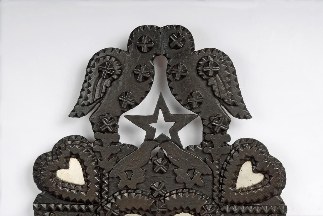 John Zadzora 'Kissing Doves' Tramp Art Wall Pocket - 3