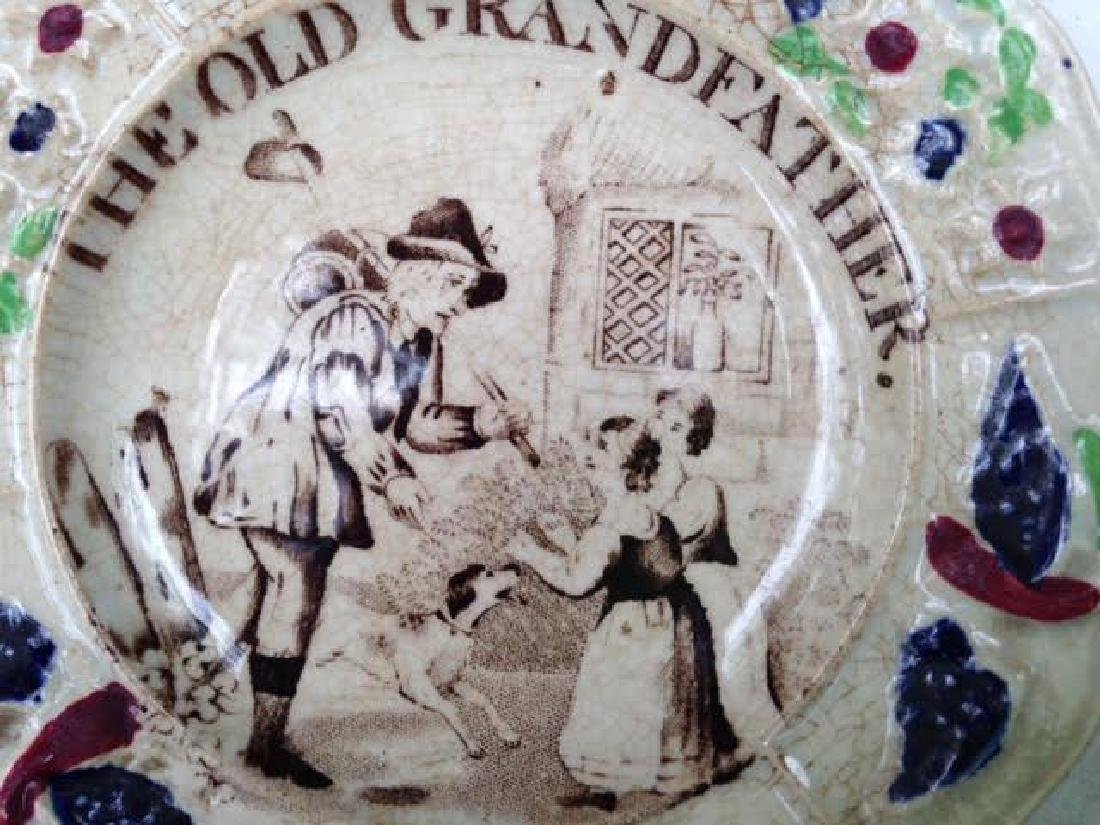 "19th C ""The Old Grandfather "" Soft Paste Child's Plate - 2"