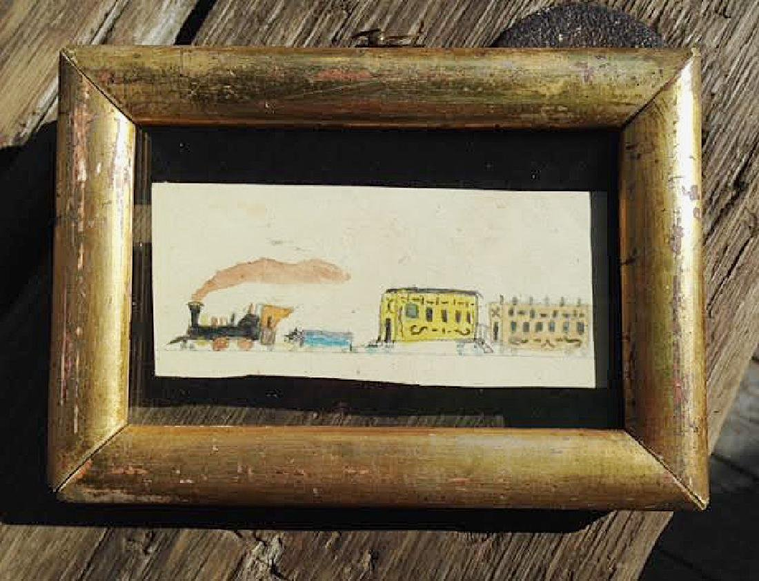 1850's Watercolor of a Train