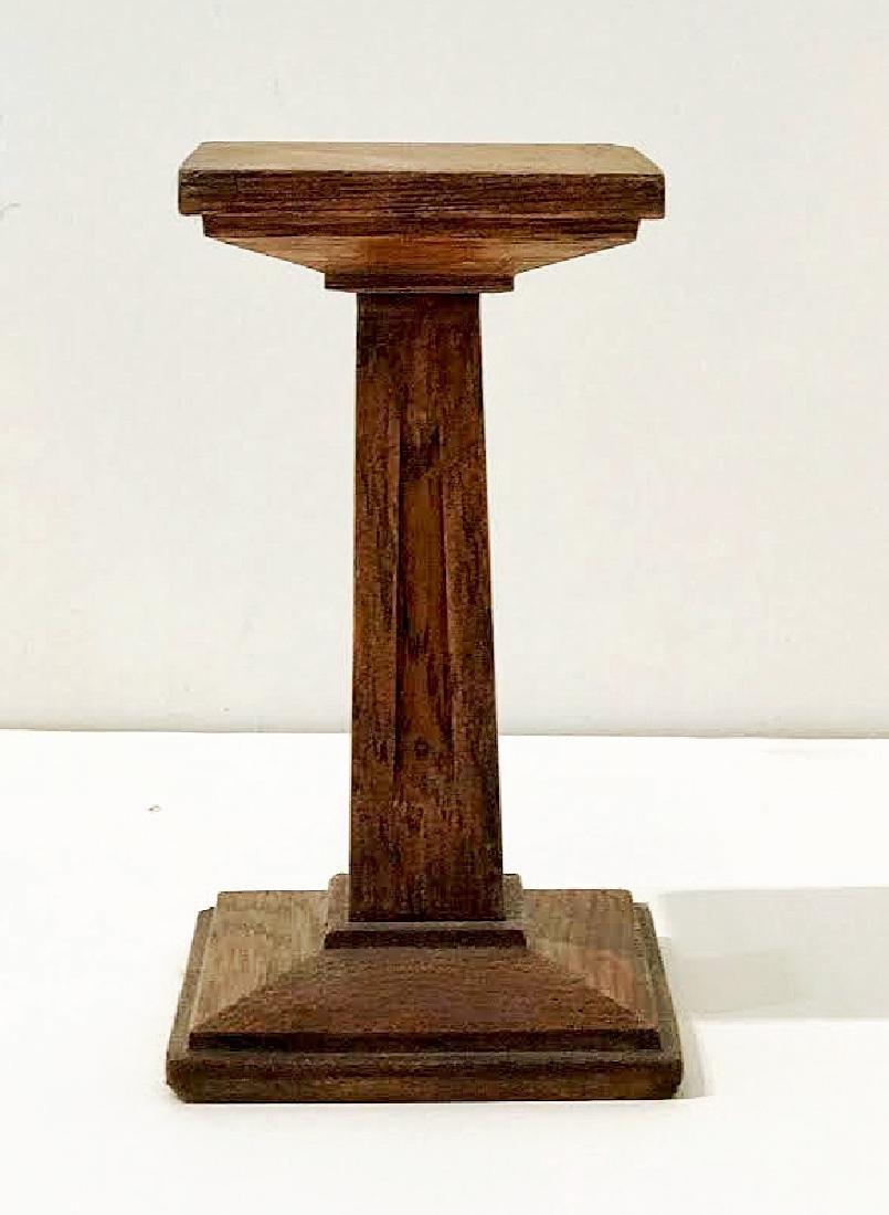 Mission Oak Miniature Pedestal - 5