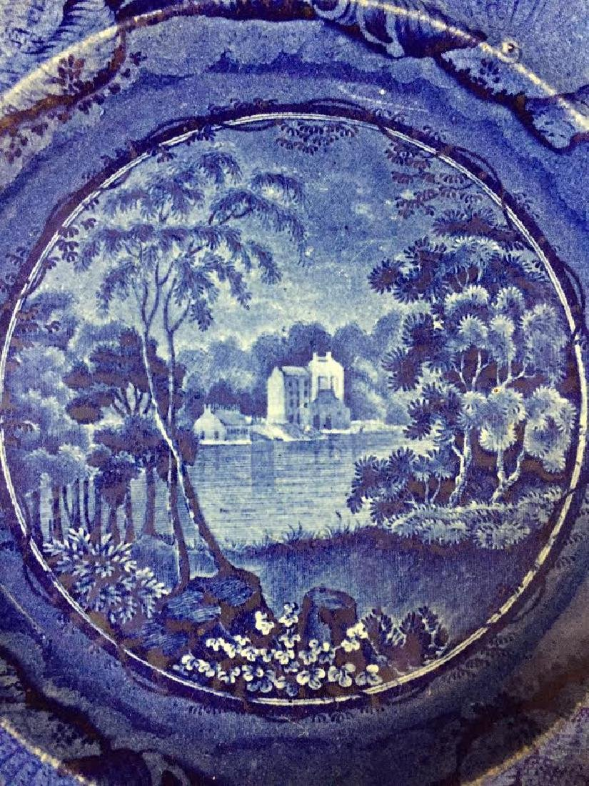 Historical blue Staffordshire Plate, Brandywine Creek - 2