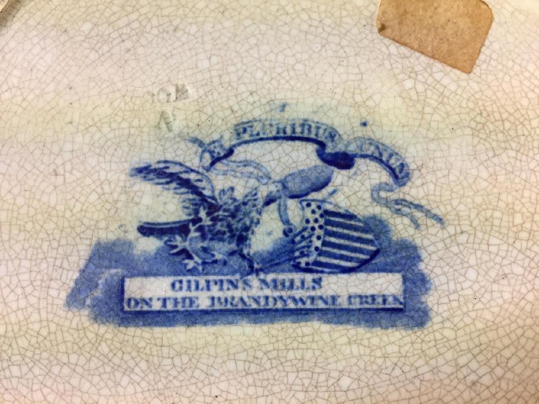 Historical blue Staffordshire Plate, Brandywine Creek - 4