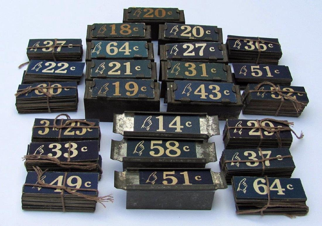 C 1900 Old Vintage Country Store Price Tags - 2