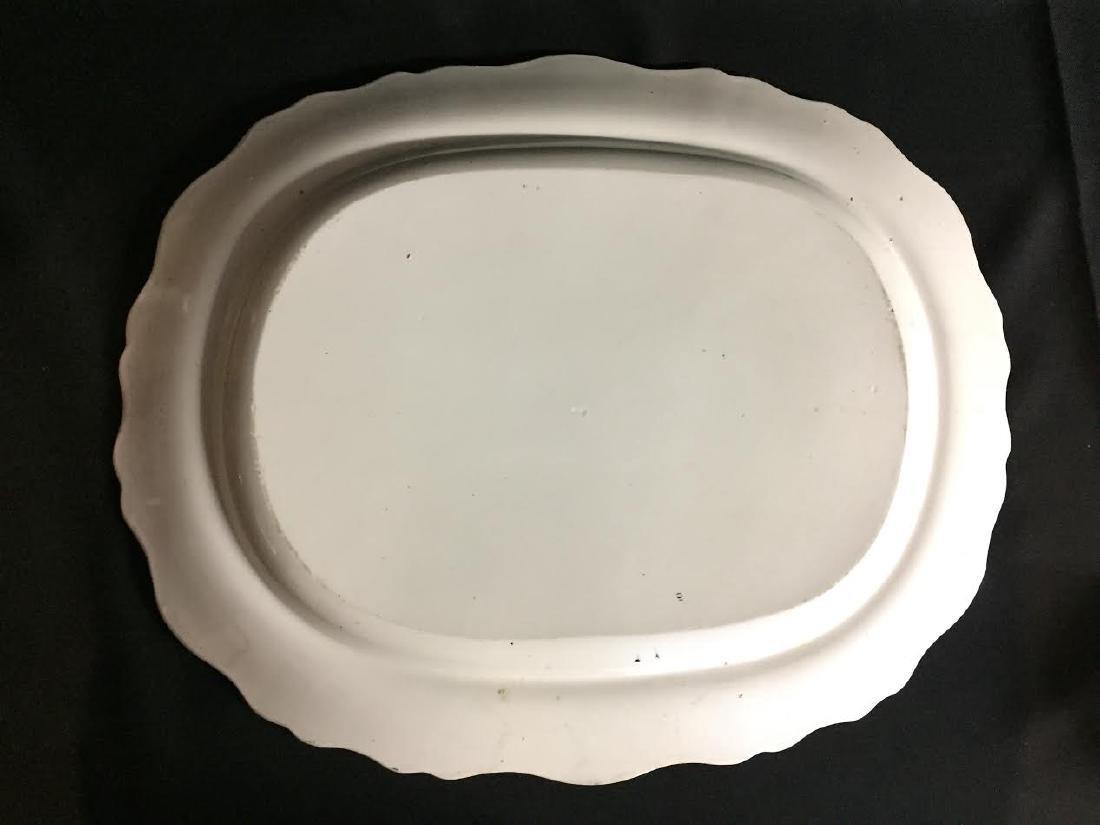Large 19th C. Black Transferware Palestine Platter - 4