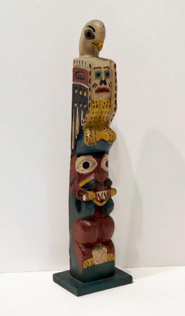 Signed Eagle Tribe Northwest Indians Totem