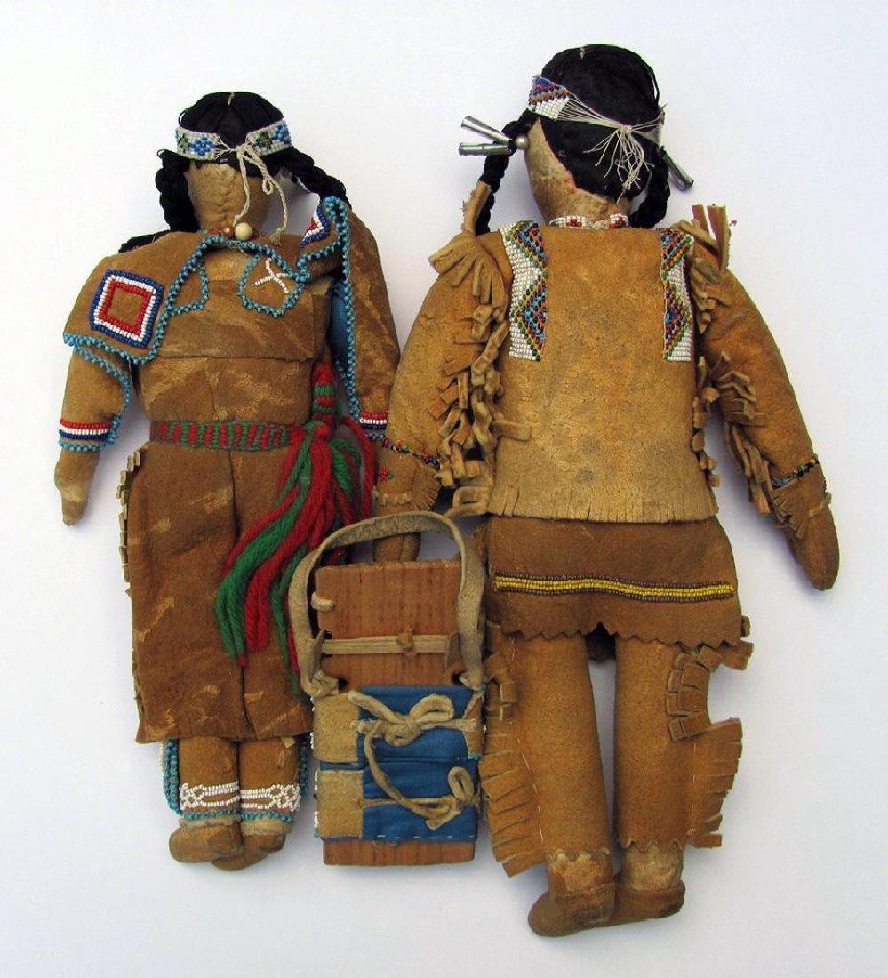 Lot of 3, C. 1930 American Indian Dolls Minnesota - 2