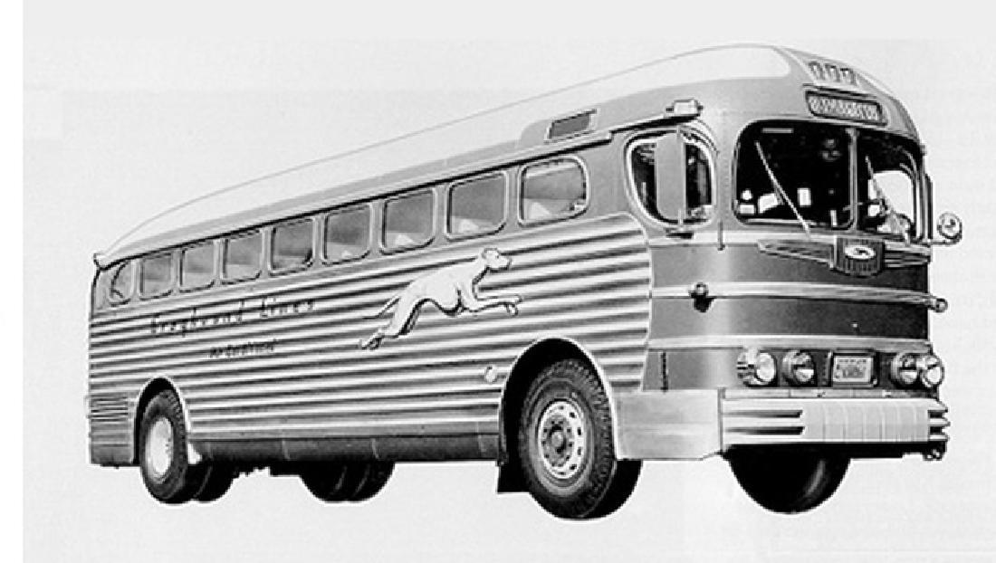 1950's Greyhound Bus Sign - 8