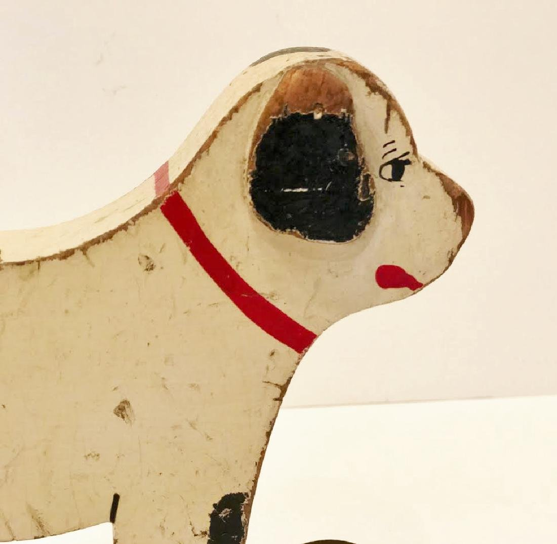 Folk Art Dog on Wheels - 3