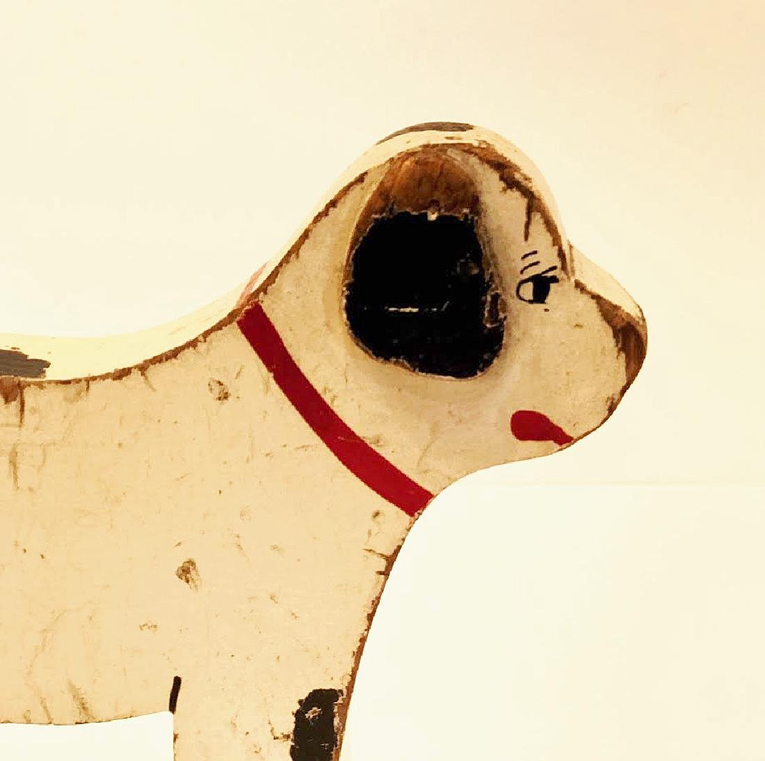 Folk Art Dog on Wheels - 5