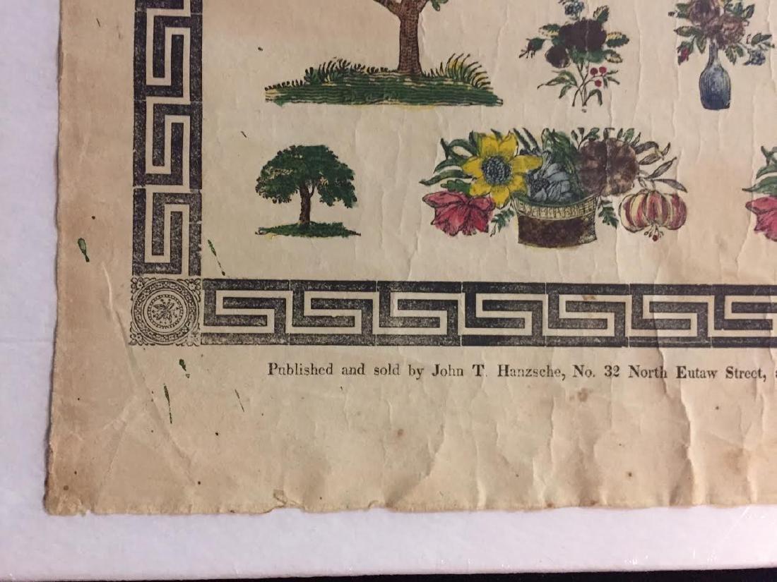 1840s Fraktur Birth Certificate - 7
