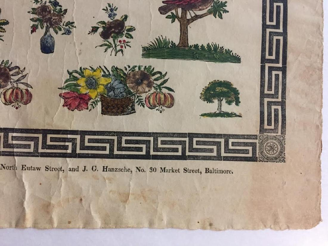 1840s Fraktur Birth Certificate - 8