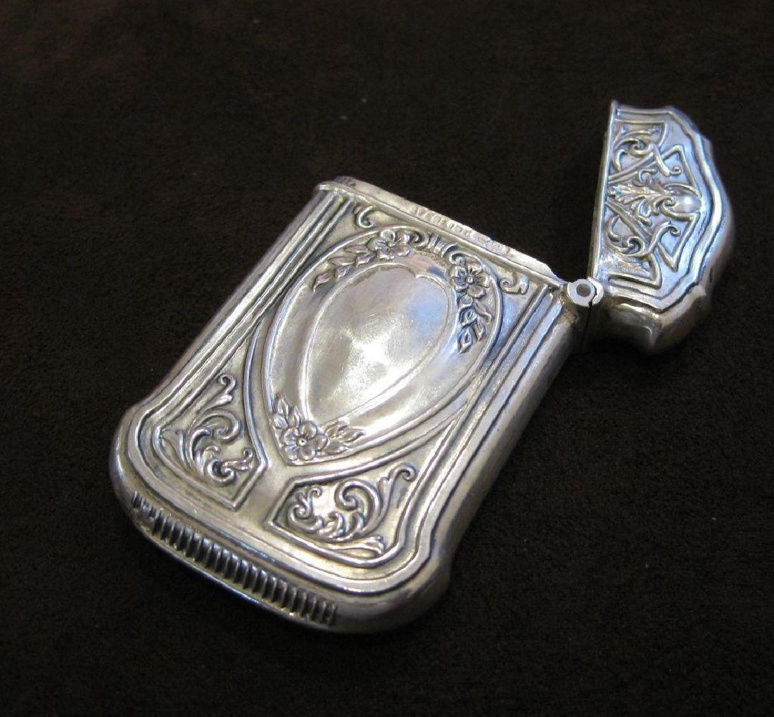 Webster Co Sterling Silver Floral Match Safe, 1880 - 4