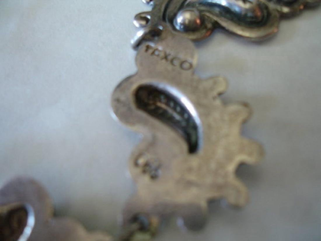 Mexican Taxco Sterling 980 Silver Necklace Set - 3