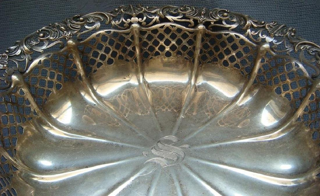 Antique Gorham Art Nouveau Sterling Fruit Bowl, 1906 - 9
