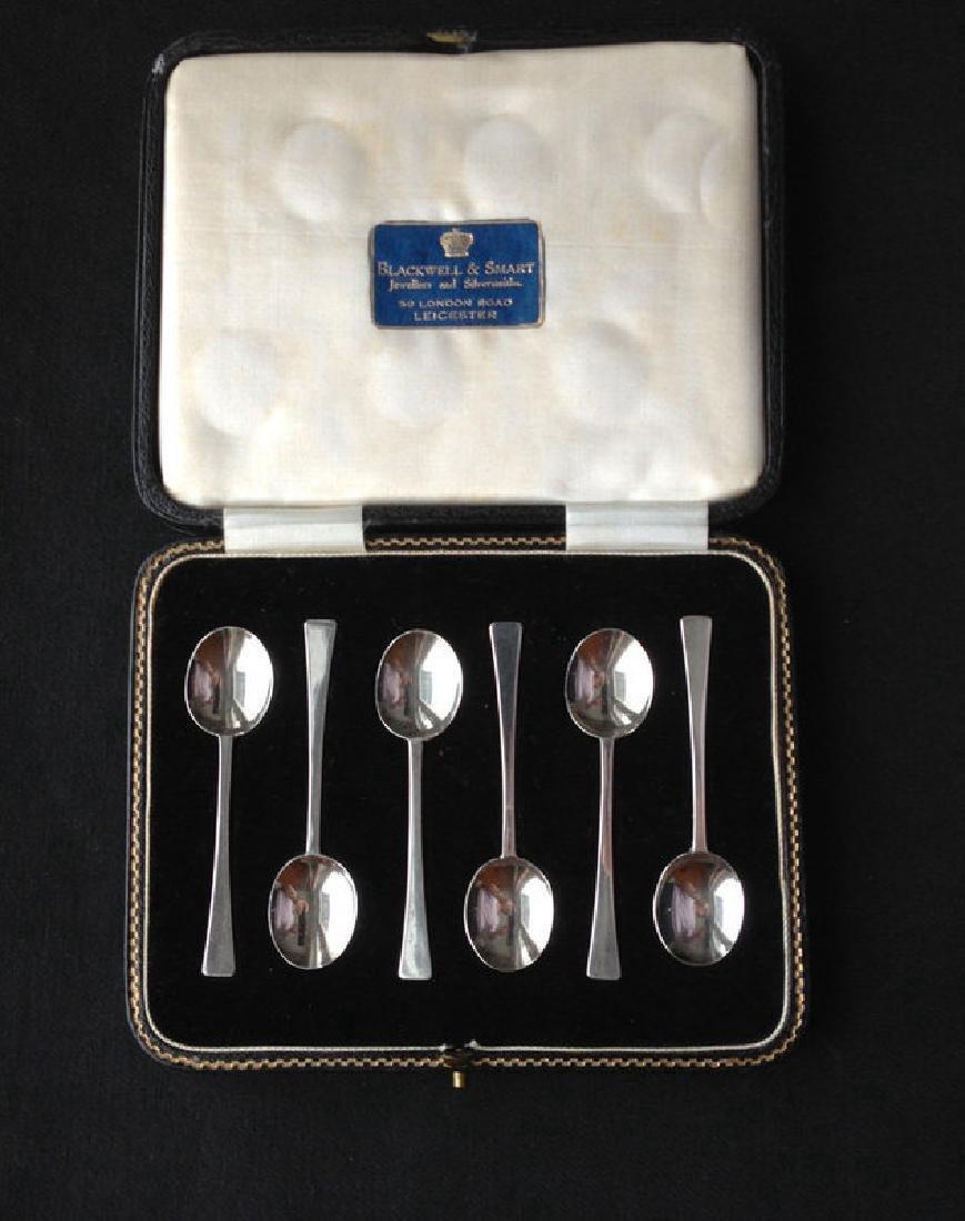 Thomas Bradbury & Sons Art Deco Sterling Spoons, 1930