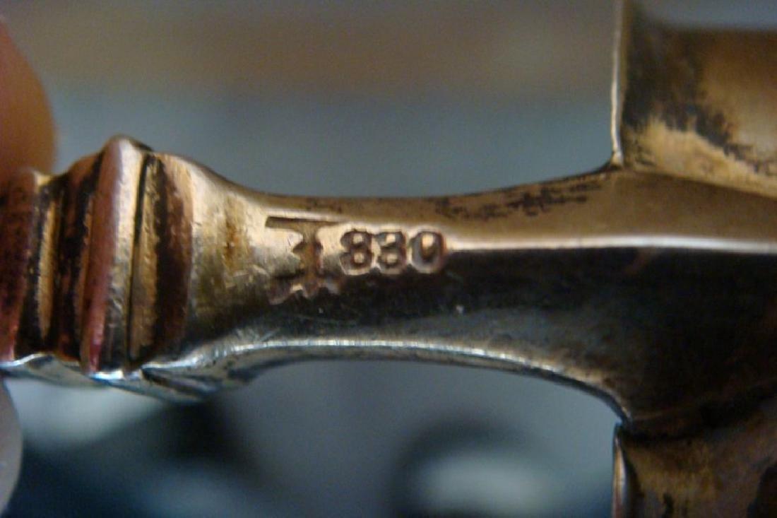 Figural Koch & Bergfeld 830 Silver Sauce Ladle, 1875 - 9