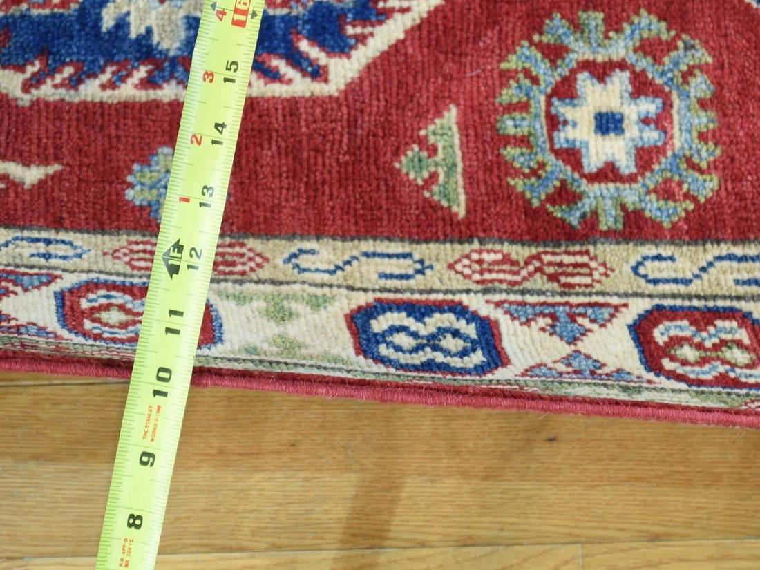 HandmadeTribal & Geometric Kazak Runner Rug 2.8x15.4 - 3