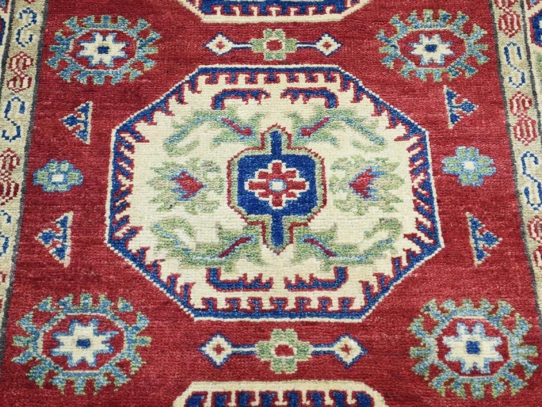 HandmadeTribal & Geometric Kazak Runner Rug 2.8x15.4 - 4