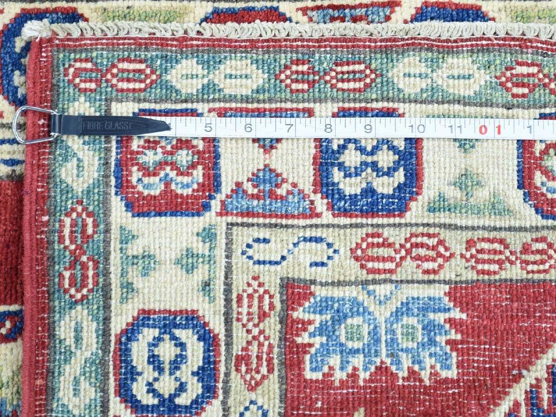 HandmadeTribal & Geometric Kazak Runner Rug 2.8x15.4 - 5