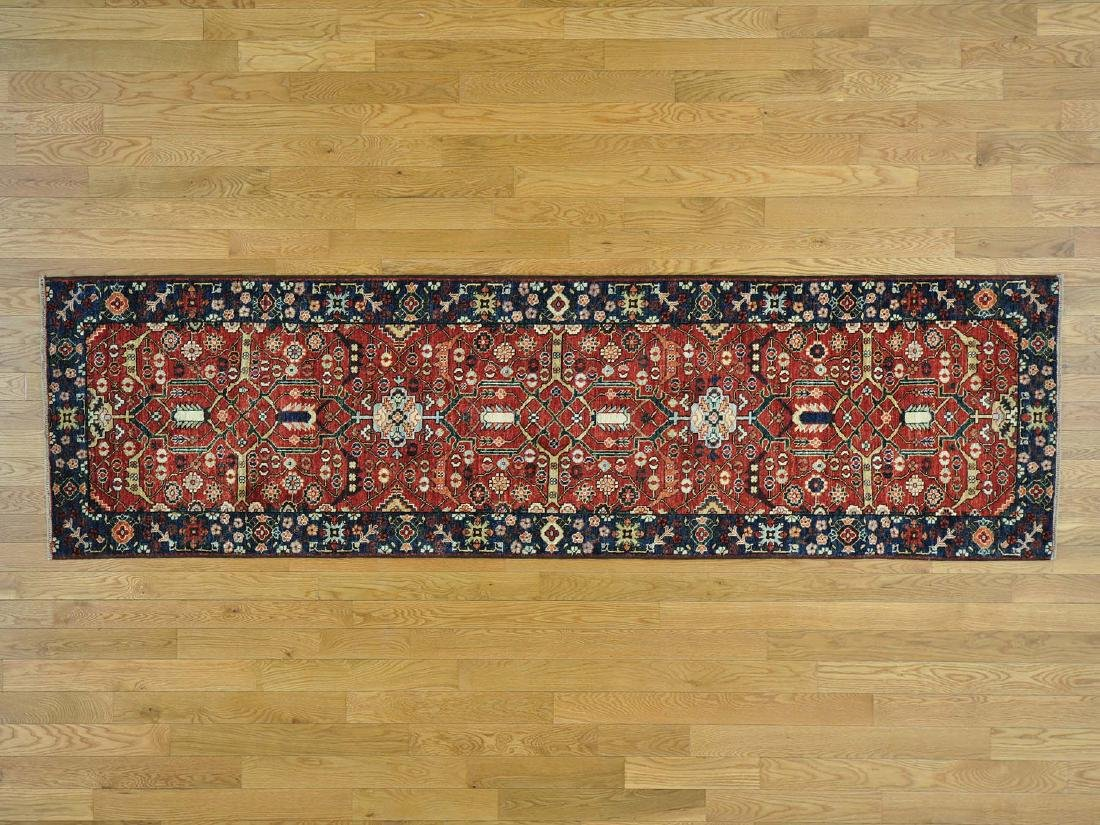 Antique Heriz Wool Handmade Oriental Runner Rug 2.8x9.7