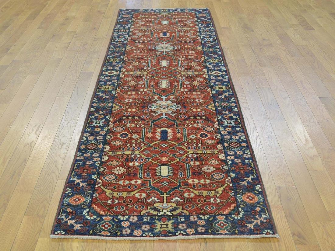 Antique Heriz Wool Handmade Oriental Runner Rug 2.8x9.7 - 2
