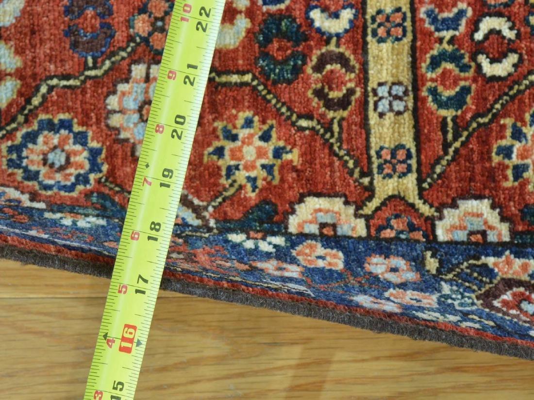 Antique Heriz Wool Handmade Oriental Runner Rug 2.8x9.7 - 3