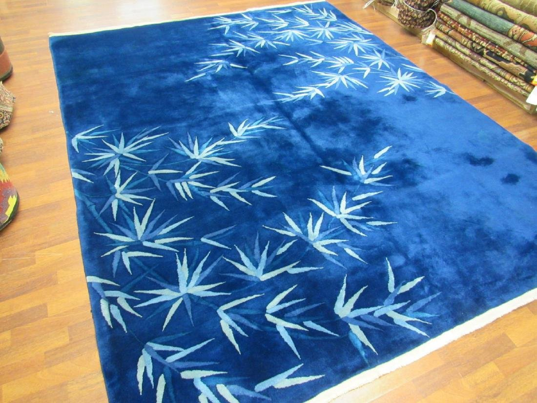 Antique Art Deco Wool Chinese Rug 7.10x 9.8 - 4