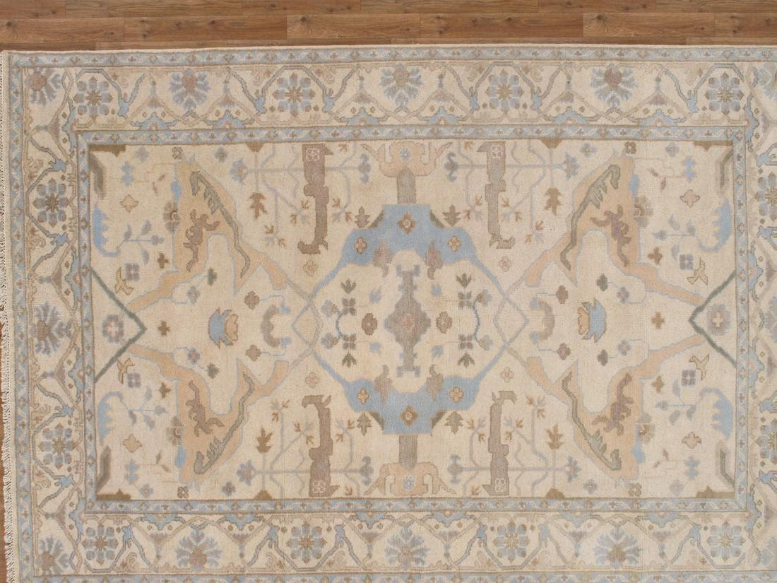 Exquisite Oushak Wool Area Rug Made by Hand 6x9 - 2