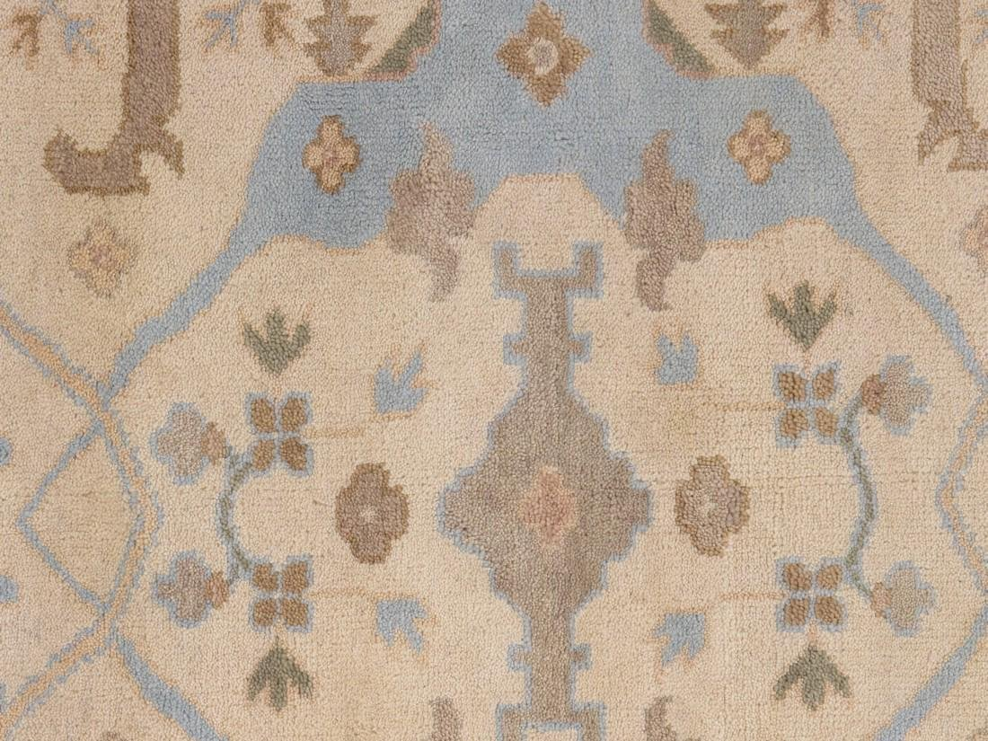 Exquisite Oushak Wool Area Rug Made by Hand 6x9 - 4