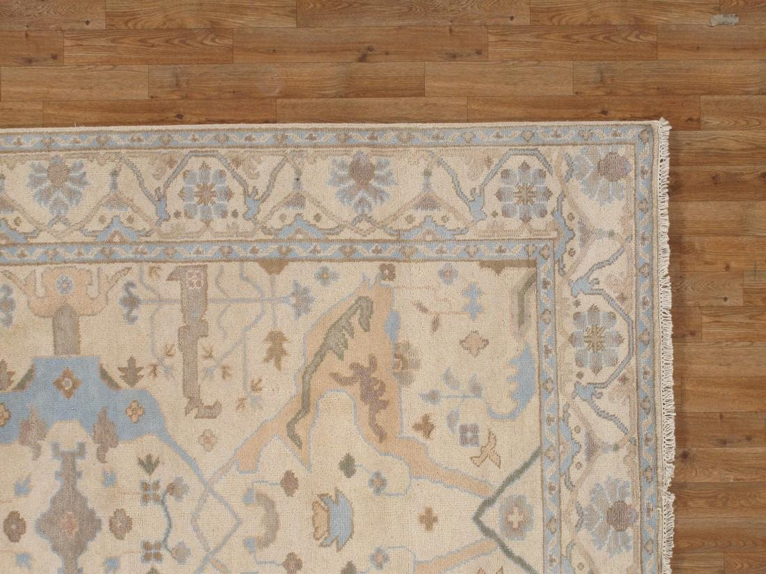 Exquisite Oushak Wool Area Rug Made by Hand 6x9 - 5