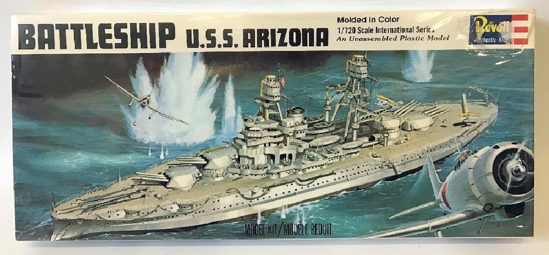 Vintage 1969 REVELL USS ARIZONA Battleship Model Kit