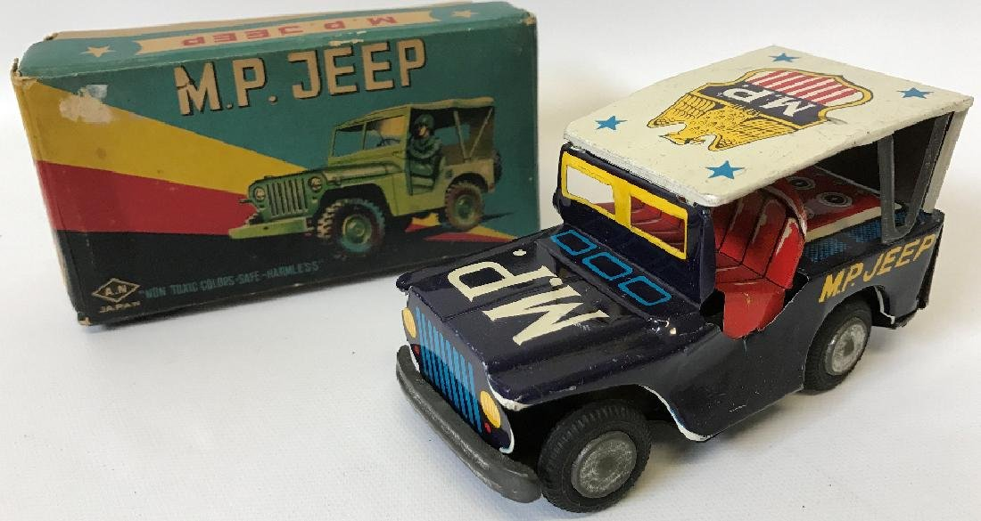 Vintage 1950s NAITO SHOTEN Japan Military Police JEEP