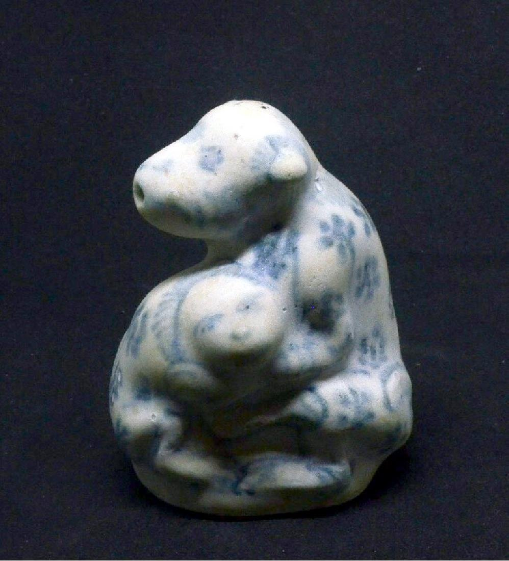 Annamese Ming Period Blue & White Water Dropper, 15th C