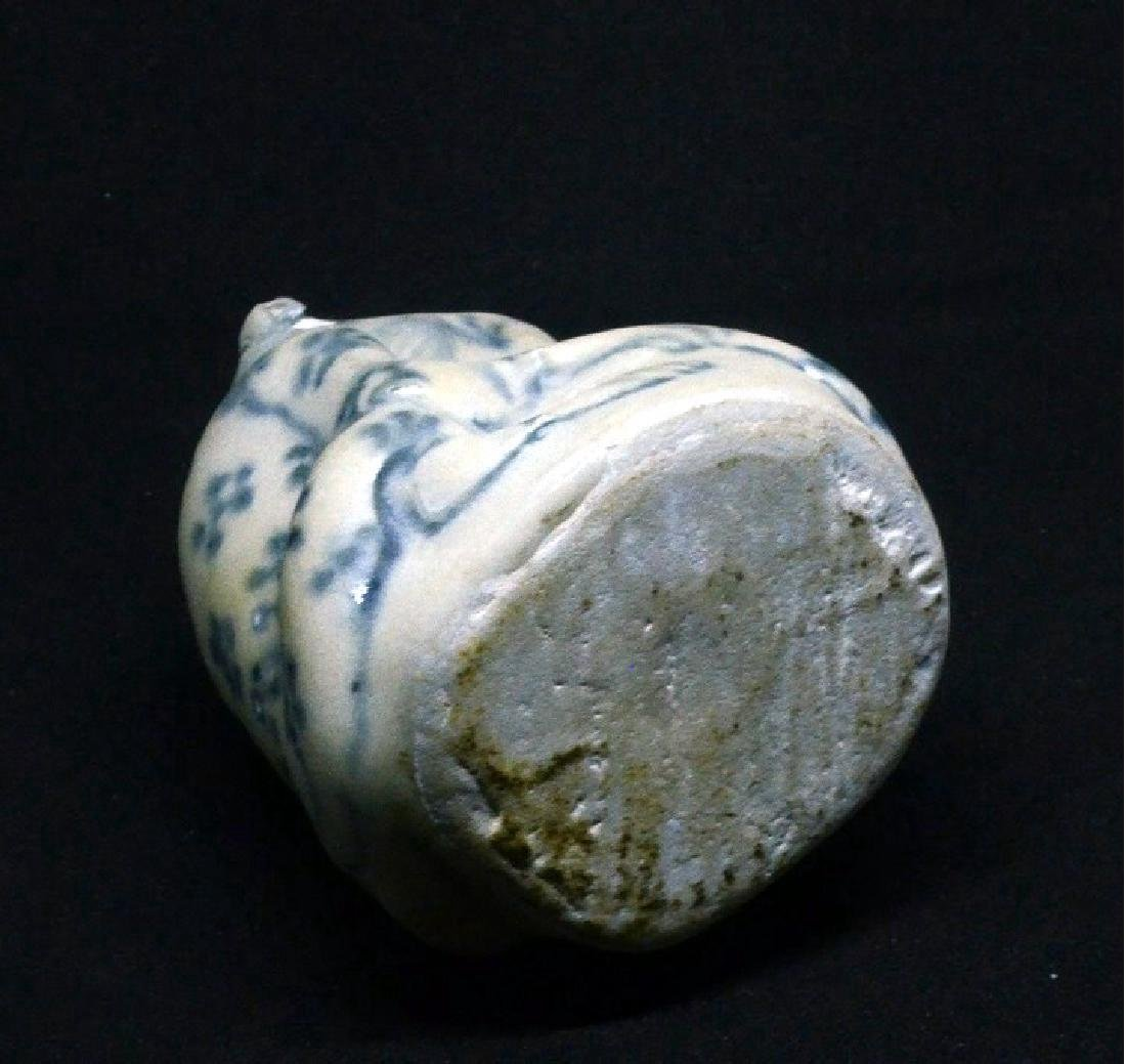 Annamese Ming Period Blue & White Water Dropper, 15th C - 3