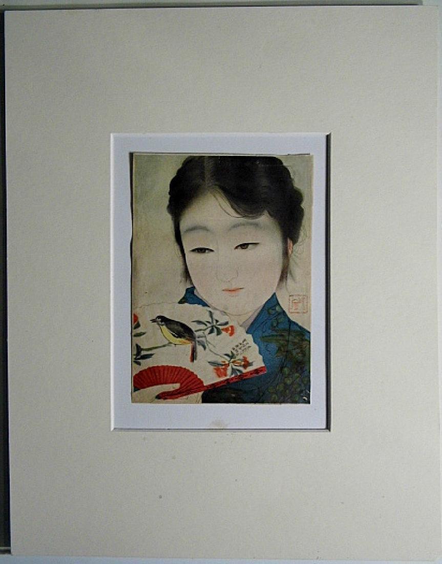 Japanese Print Bijin with Fan Kyoto Scrapbook - 5