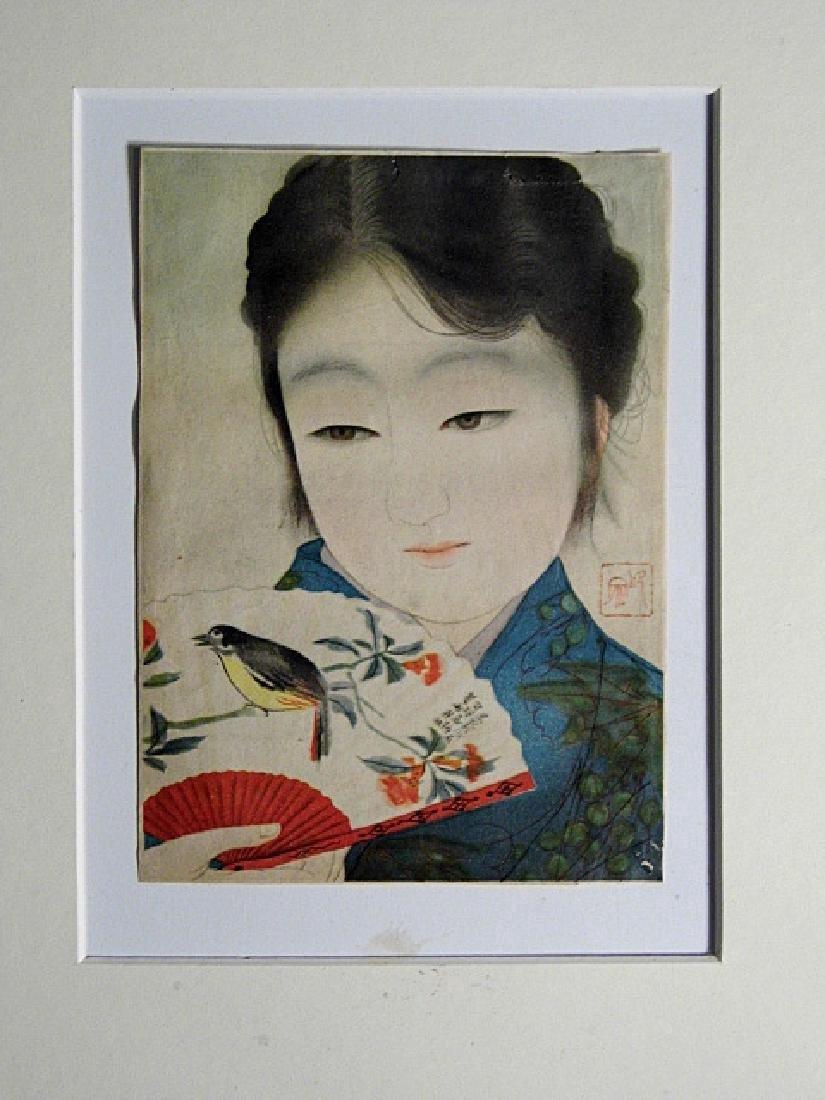 Japanese Print Bijin with Fan Kyoto Scrapbook - 6