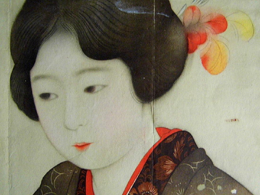 1930's Kyoto Scrapbook Print Geisha & Flower Vase - 4