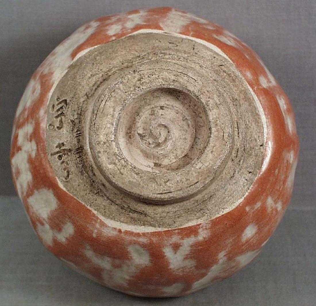 Japanese Aka-raku Chawan Tea Ceremony Bowl, 19th C - 4