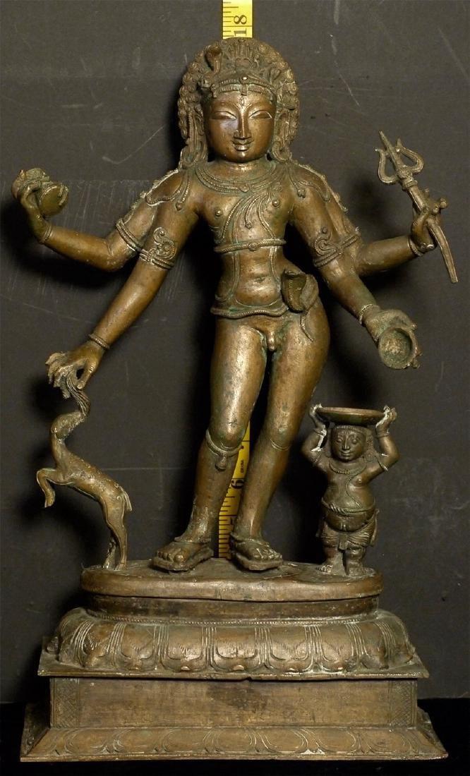 Elegant Antique Indian Hindu Bronze Statue - 10