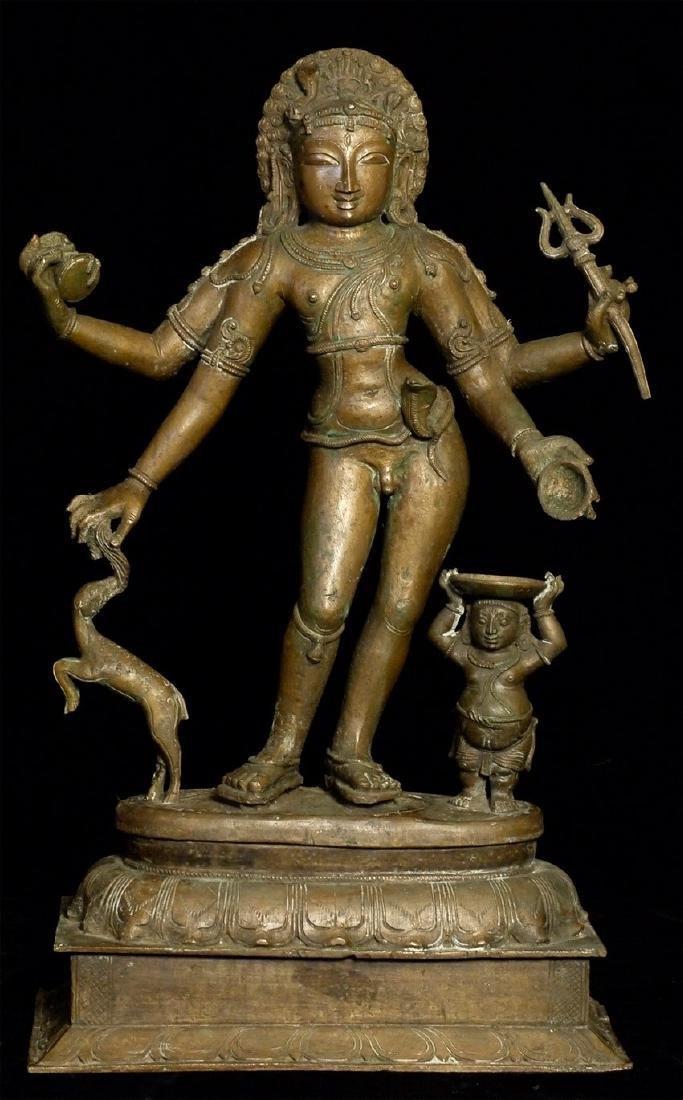 Elegant Antique Indian Hindu Bronze Statue