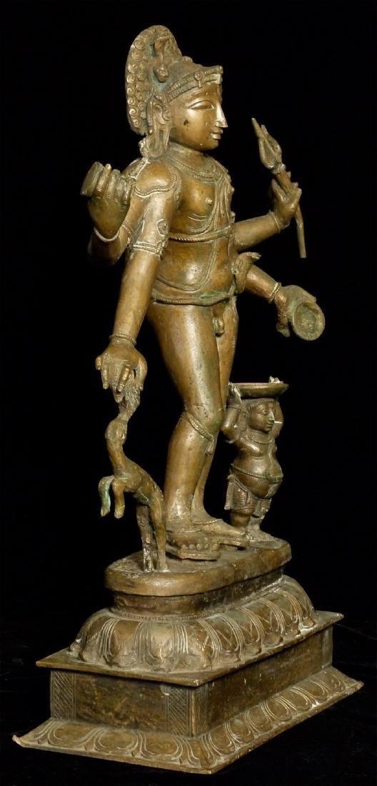 Elegant Antique Indian Hindu Bronze Statue - 2