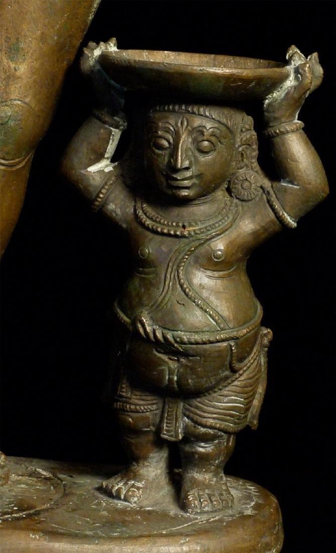 Elegant Antique Indian Hindu Bronze Statue - 6