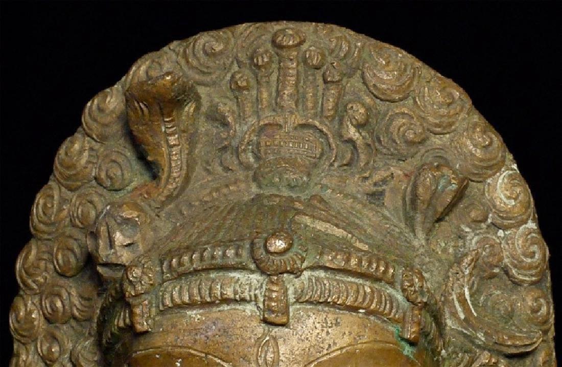Elegant Antique Indian Hindu Bronze Statue - 8