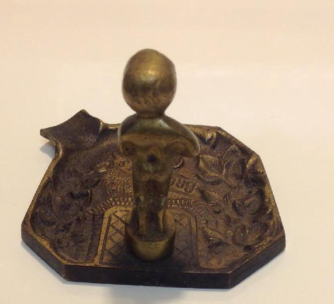 Antique Ashtray Bruxelles Peeing Boy Brass Figurine - 3