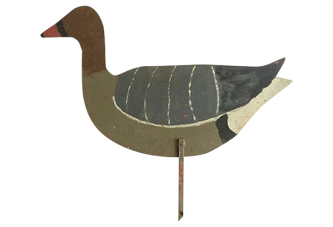 English Wood Hand-Painted Hunting Decoy