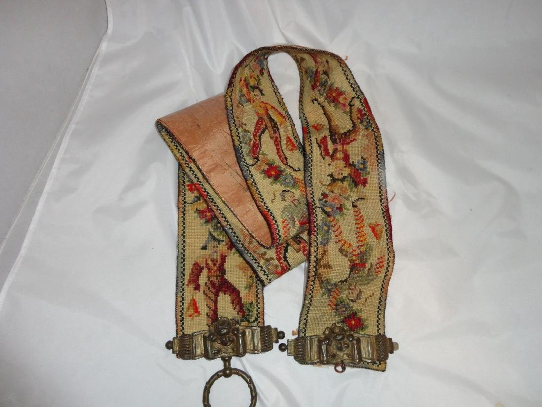 19th Century Victorian Tapestry Jester - 2