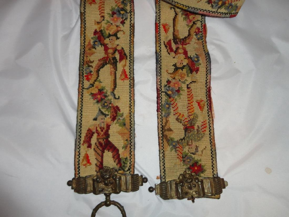 19th Century Victorian Tapestry Jester - 3