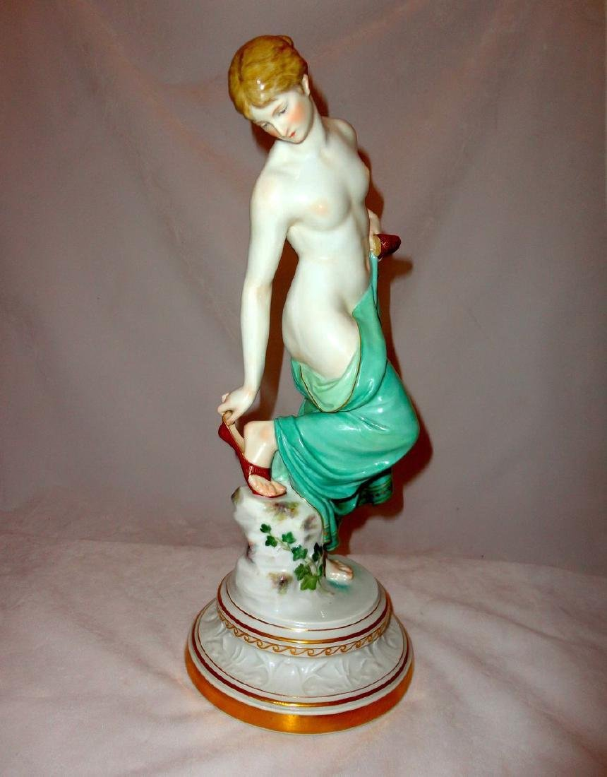 Late 19th Century Half Nude Meissen Woman with Slippers - 2