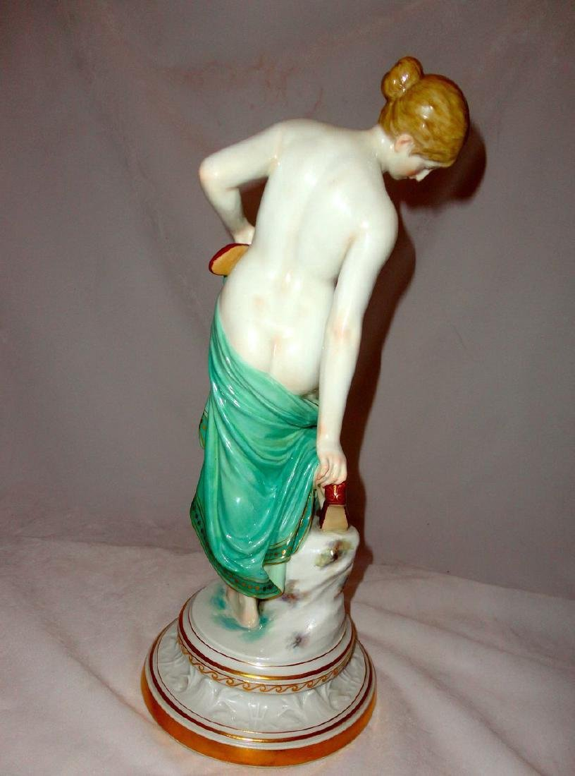 Late 19th Century Half Nude Meissen Woman with Slippers - 3