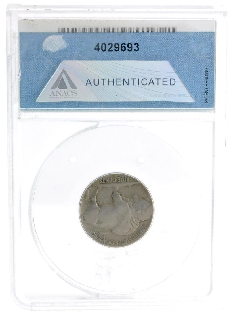 1937-D ANACS VF 20 3 Leg Buffalo Nickel Coin - Very - 2